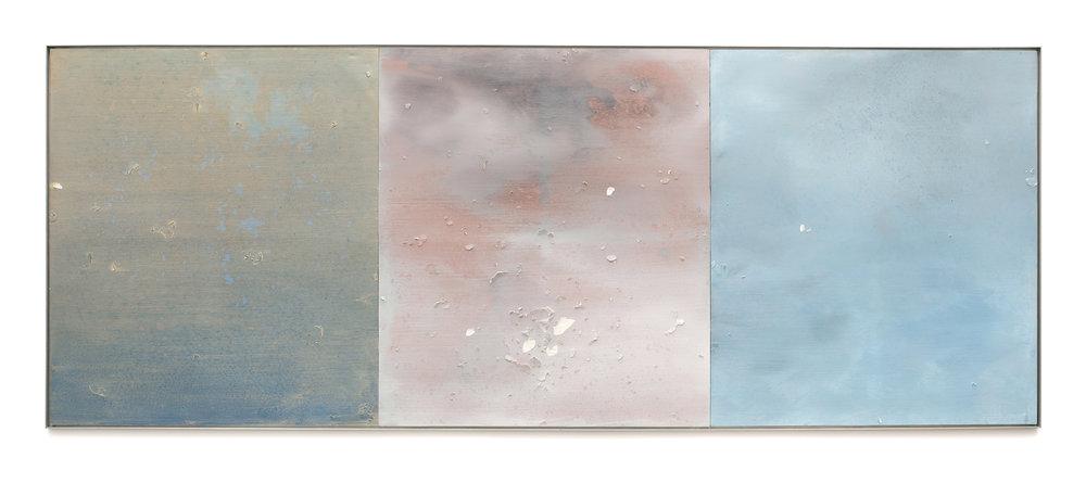 "Air Tears (Untitled 14)  Acrylic on Archival Foam Board 48 x 126.25"" 2011  INQUIRE"
