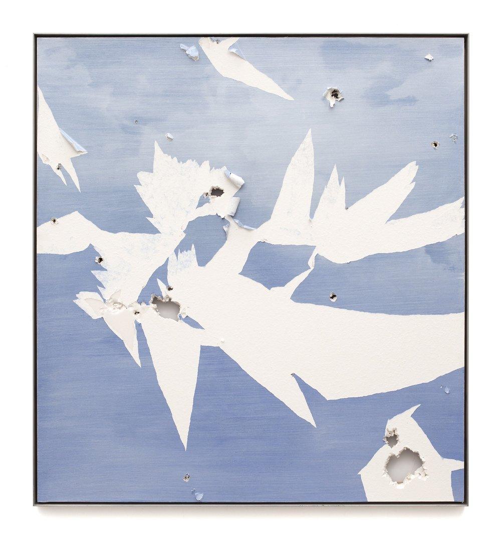"Air Tears (Untitled 37)  Acrylic on Archival Foam Board 50.5 x 46.5"" 2011  INQUIRE"