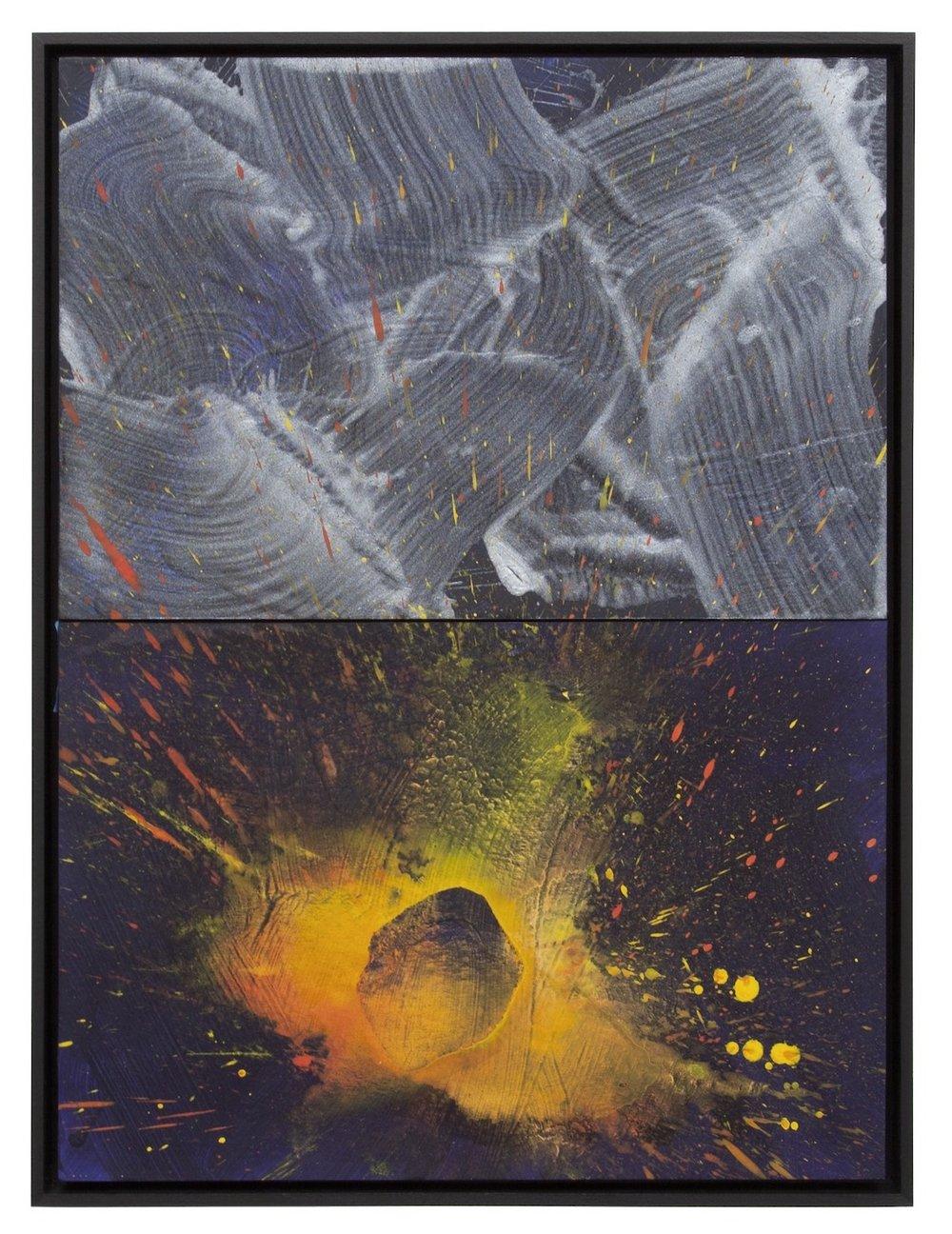 "Forbidden Fruit  Acrylic on Archival Foam Board 24.25 x 18"" 2016  INQUIRE"