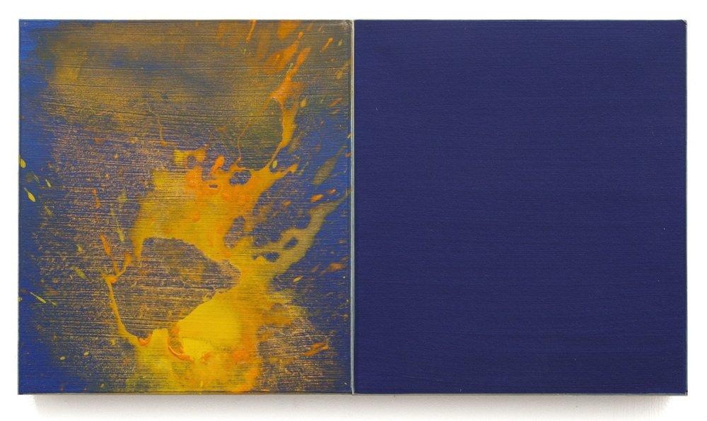 "California Summer 34  Acrylic on Calligraphy Board 10.75 x 19"" 2016  INQUIRE"