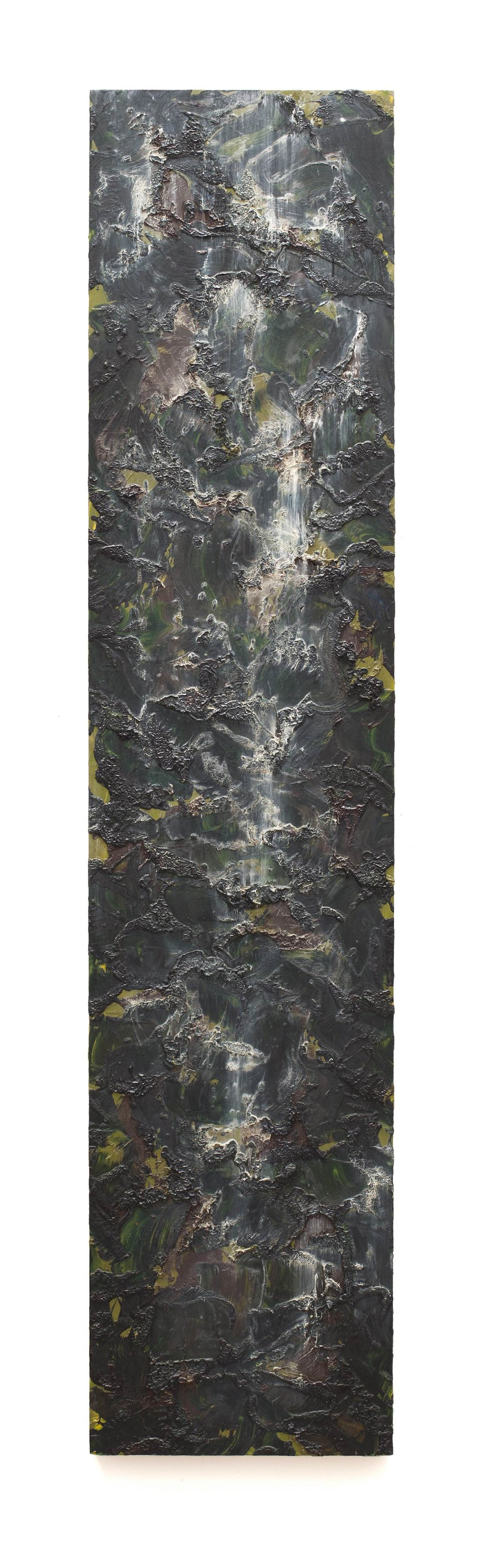 """Waterfall Painting 134  Oil on Gator Board 81 x 18"""" 1990  INQUIRE"""
