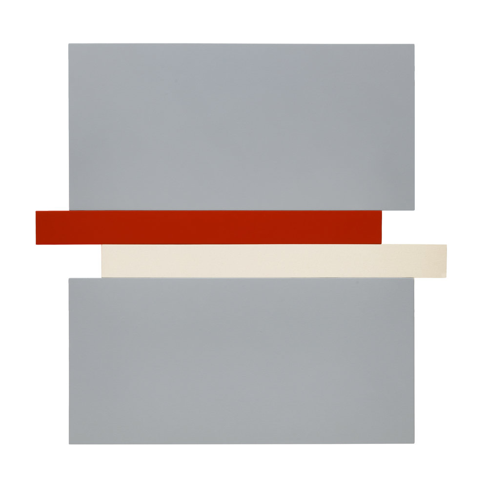 COMPRESSION - GREY, RED, CANVAS