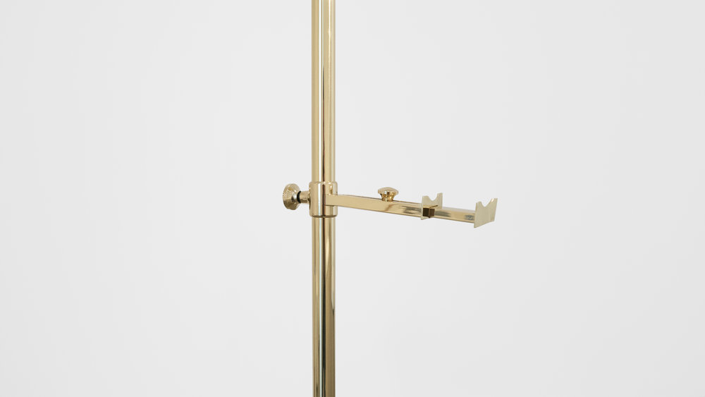 Angelo Lelli Easel Lamp for Arredoluce, c. 1950-1959, Brass, 82 H x 22.5 W x 33 D inches_2.jpg