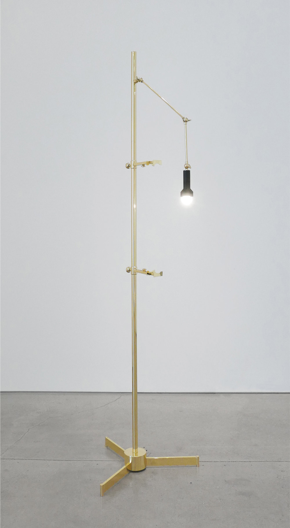 Angelo Lelli Easel Lamp for Arredoluce, c. 1950-1959, Brass, 82 H x 22.5 W x 33 D inches_1.jpg