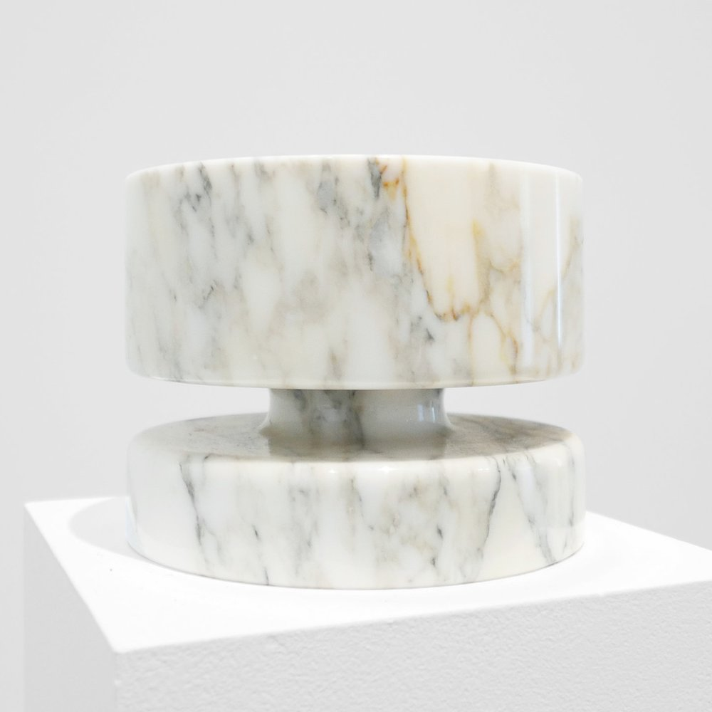 ANGELO MANGIAROTTI  MARBLE BOWL FOR KNOLL  c. 1960s ...