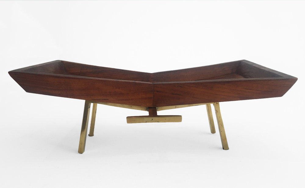 1. Carl Aubock, Mid-Century Tray, solid rosewood, brass, 5.5H x 14.5L x 9.5W inches.jpg