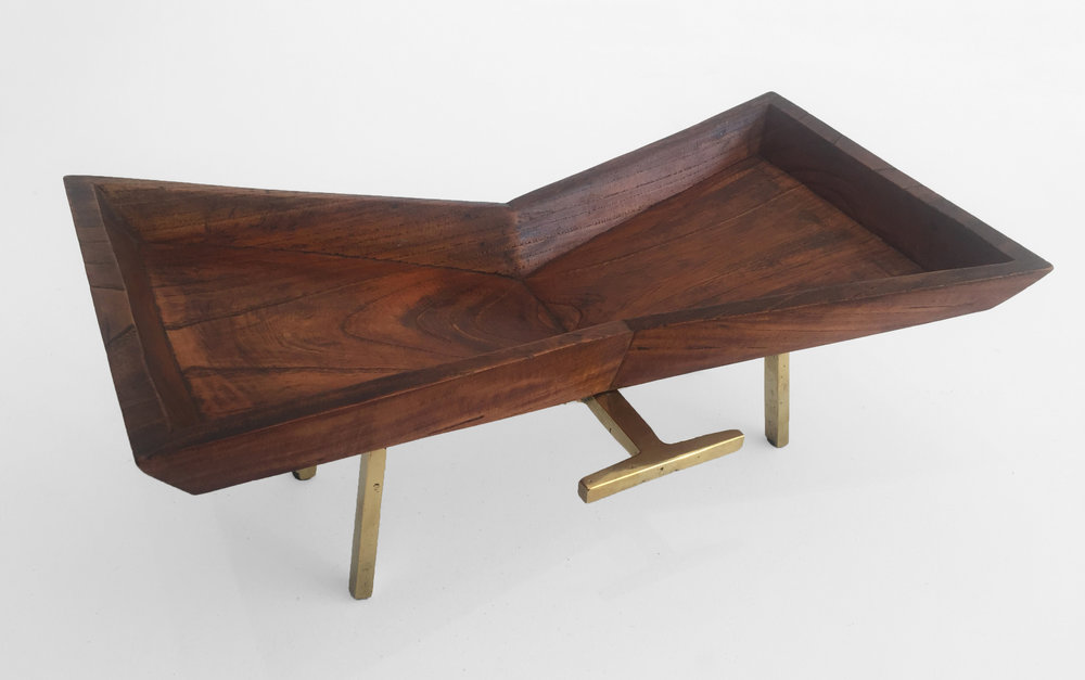 2. Carl Aubock, Mid-Century Tray, solid rosewood, brass, 5.5H x 14.5L x 9.5W inches.jpg