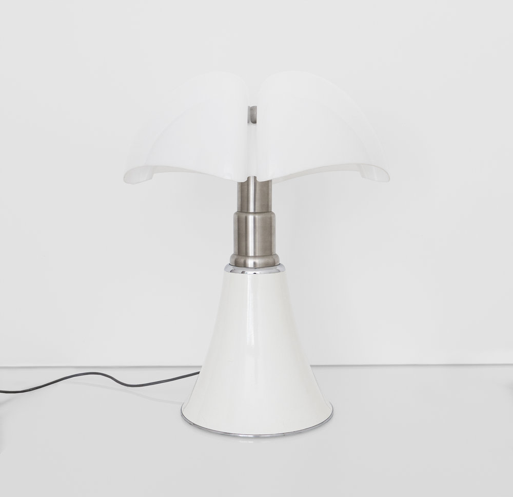 Gae Aulenti, Pipistrello Table Lamp Designed For Martinelli Luce, c. 1960s, Methacrylate, metal, 28 H x 21 Diameter inches_1.jpg