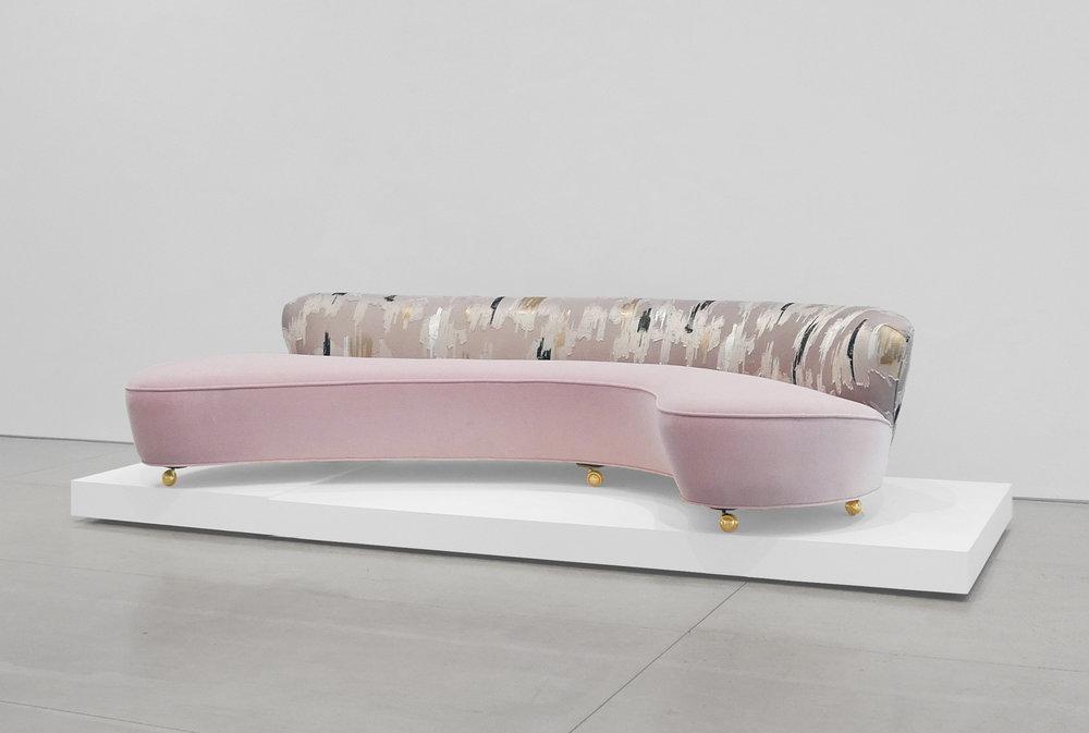 Vladimir Kagan, Serpentine Sofa, c. 1950, Dedar Milano Velvet, 29.5 H x 112 W x 63 D inches_2.jpg