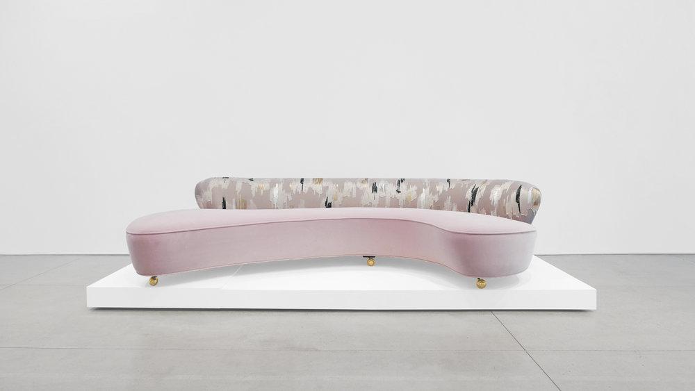 Vladimir Kagan, Serpentine Sofa, c. 1950, Dedar Milano Velvet, 29.5 H x 112 W x 63 D inches_1.jpg