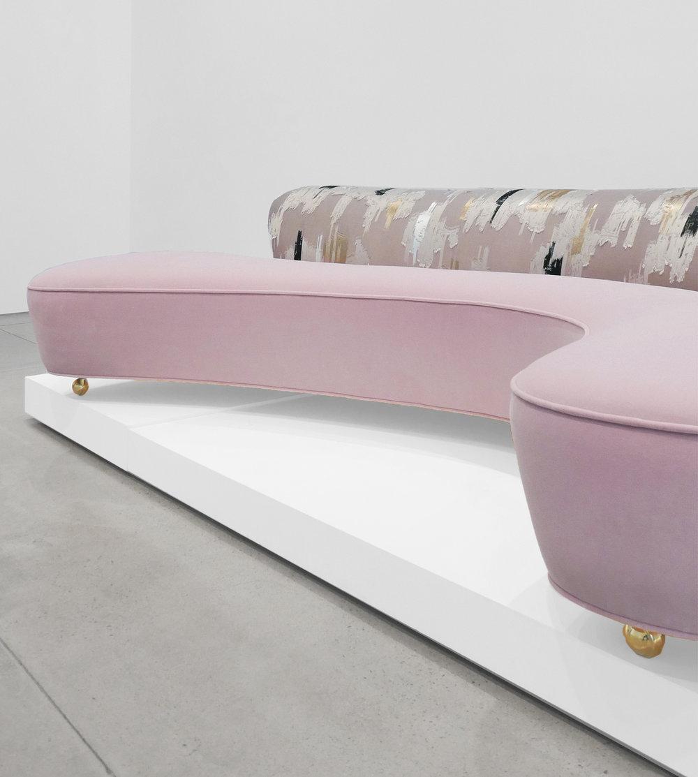 Vladimir Kagan, Serpentine Sofa, c. 1950, Dedar Milano Velvet, 29.5 H x 112 W x 63 D inches_3.jpg