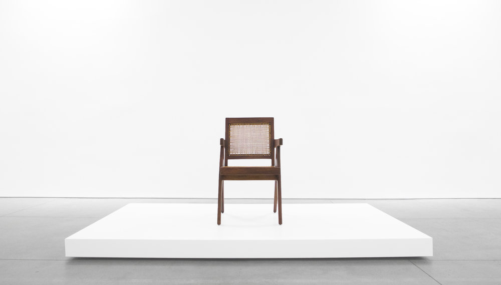 Pierre Jeanneret, Teak Conference Chair from the City of Chandigarh, India, c. 1952, 31 H x 18 W x 19.75 D inches_1.jpg