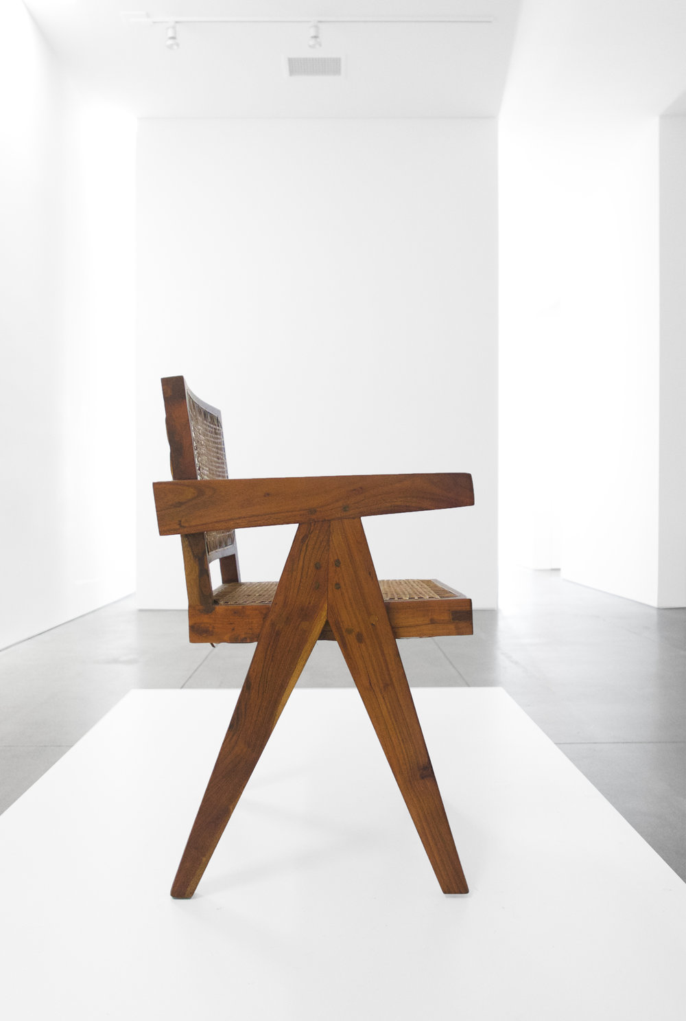 Pierre Jeanneret, Teak Conference Chair from the City of Chandigarh, India, c. 1952, 31 H x 18 W x 19.75 D inches_4.jpg