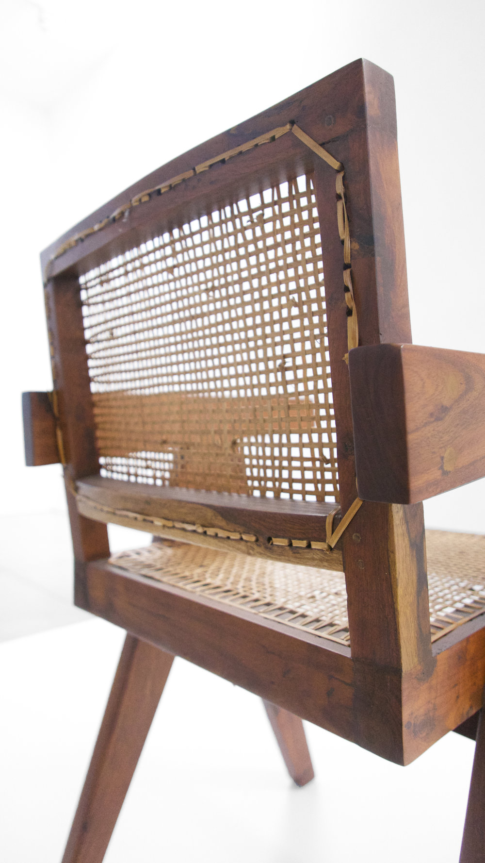 Pierre Jeanneret, Teak Conference Chair from the City of Chandigarh, India, c. 1952, 31 H x 18 W x 19.75 D inches_7.jpg