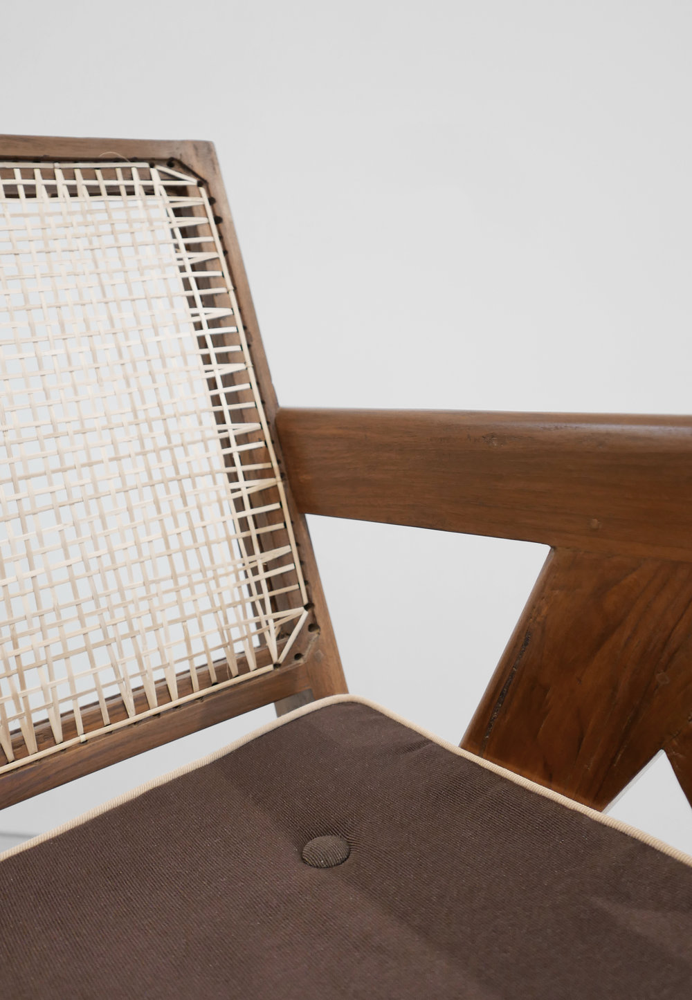 Pierre Jeanneret, Low lounge chair, model PJ-SI-29-A, c. 1955, teak, cane, 24.5H x 20.5W x 29.5D inches_7.jpg