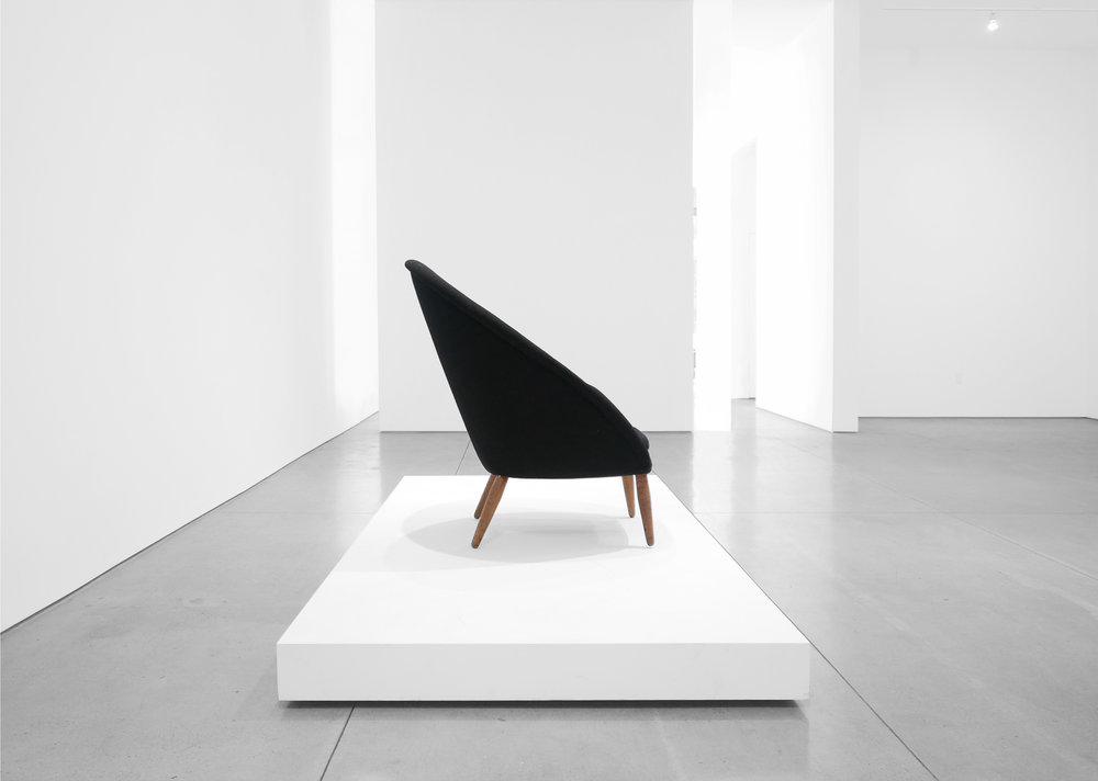 3. Nanna Ditzel, Lounge Chair, 1953, Upholstery, stained oak, teak, 38H × 35W × 34D inches.jpg