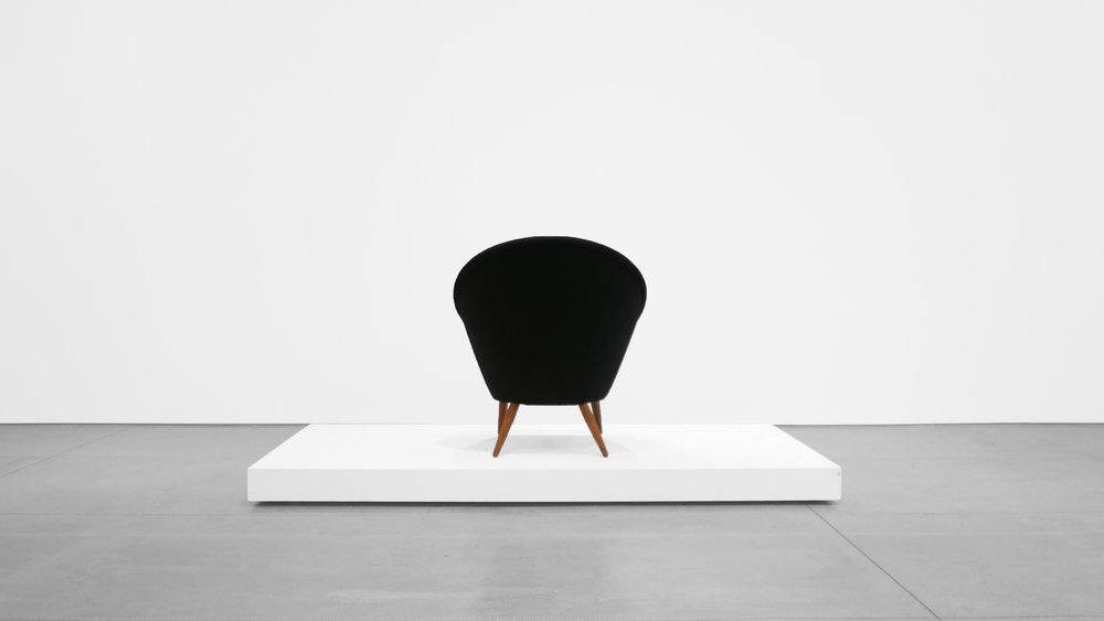 5. anna Ditzel, Lounge Chair, 1953, Upholstery, stained oak, teak, 38H × 35W × 34D inches.jpg