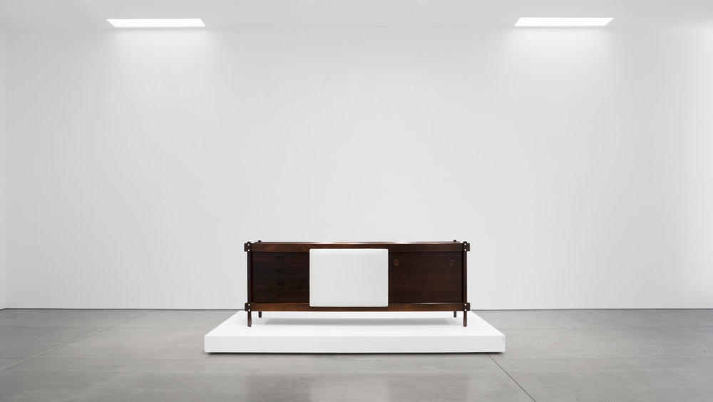 Sergio Rodrigues, Rosewood Credenza, c. 1965, Rosewood, Leather, 30.5 H x 79.5 W x 19.75 D inches_1.jpg