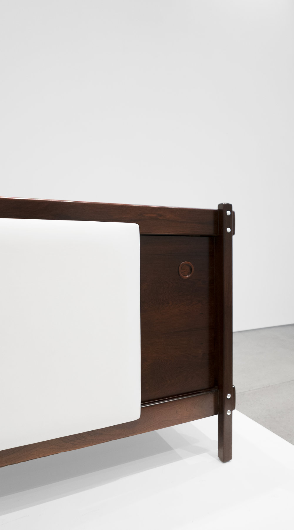 Sergio Rodrigues, Rosewood Credenza, c. 1965, Rosewood, Leather, 30.5 H x 79.5 W x 19.75 D inches_5.jpg