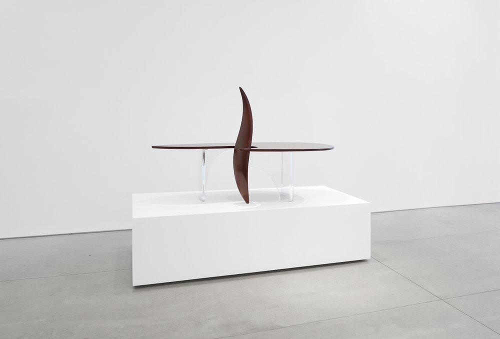 3. Michael Coffey, 'Encounter' Coffee Table, c. 1979, lucite, wood, 35H x 60W x 29D inches.jpg