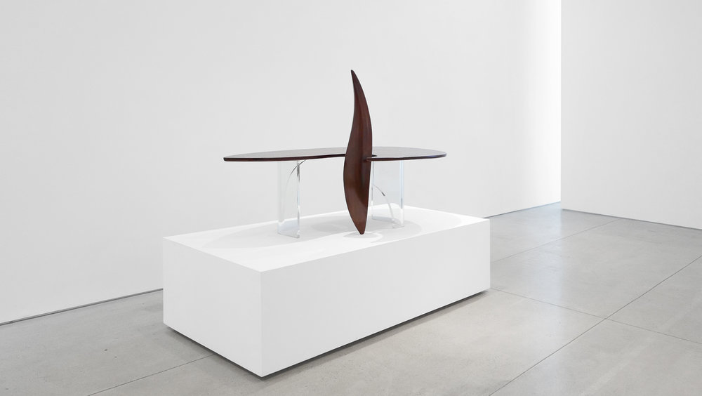 4. Michael Coffey, 'Encounter' Coffee Table, c. 1979, lucite, wood, 35H x 60W x 29D inches.jpg
