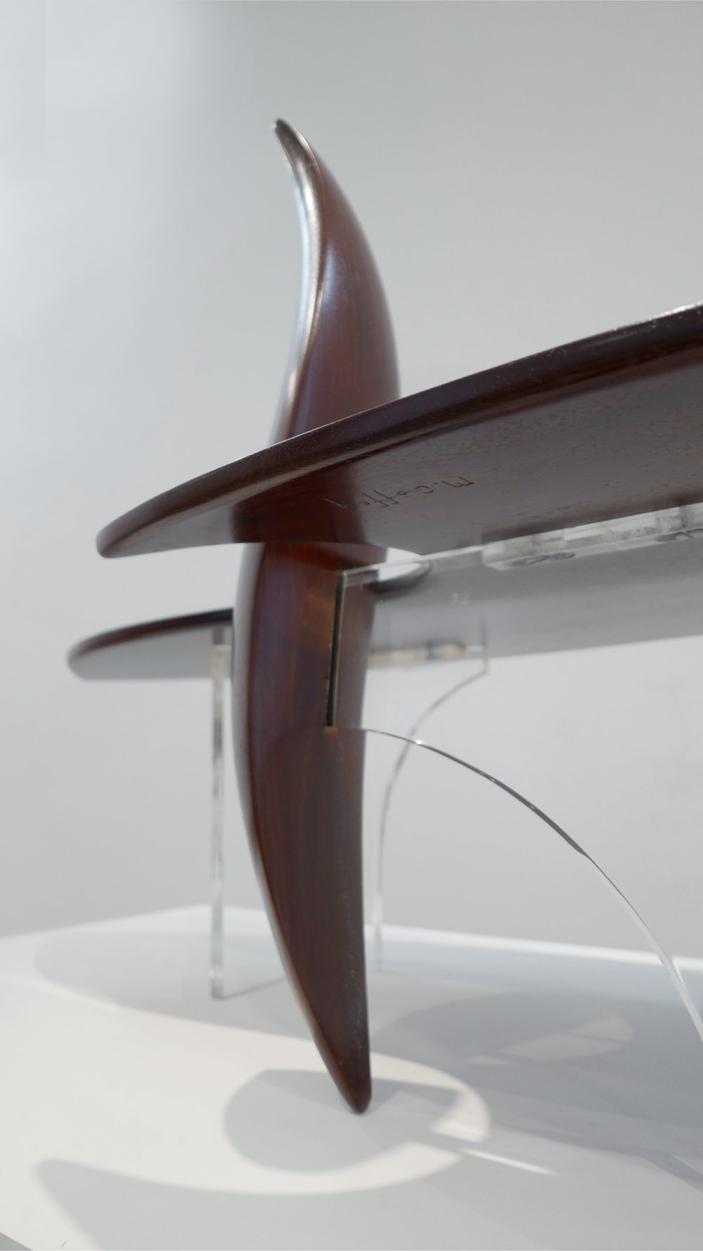 9. Michael Coffey, 'Encounter' Coffee Table, c. 1979, lucite, wood, 35H x 60W x 29D inches.jpg