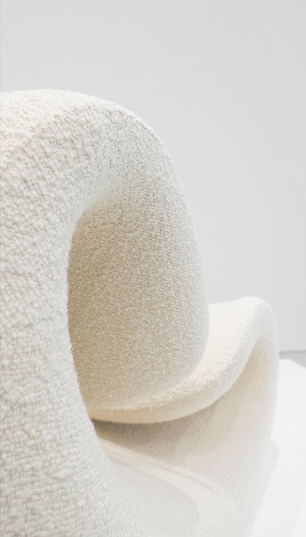 Jean-Pierre Laporte, 'Esox' Chair, c. 1970-1974, Dedar Milano Boucle Wool, Fiberglass, 35.5 H x 37 W x 28 D inches_5.jpg