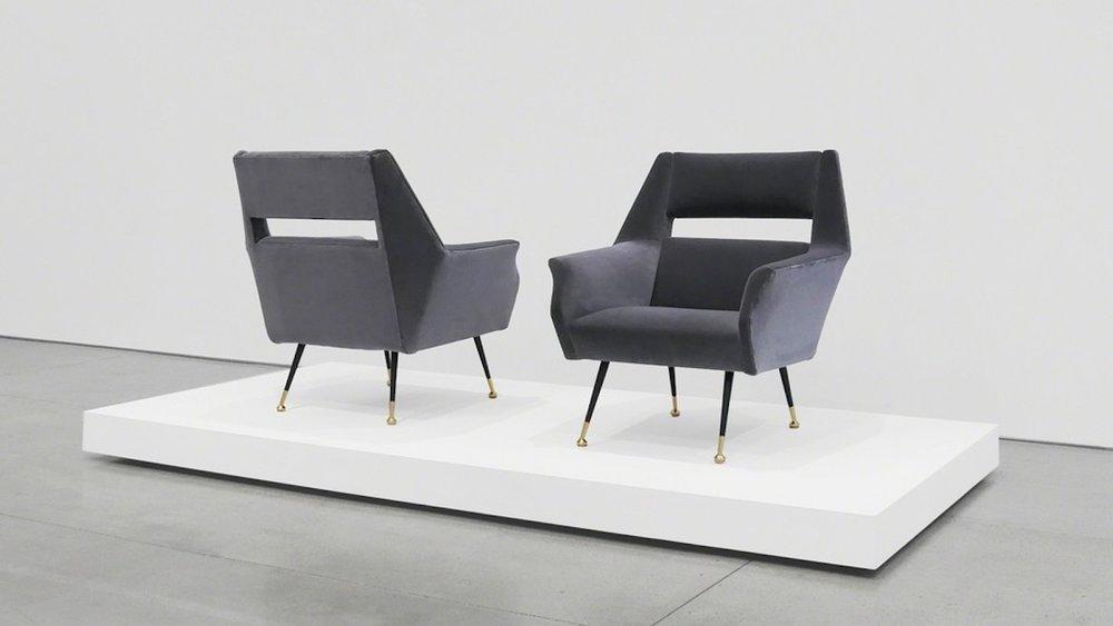 Gigi Radice Velvet Chairs for Minotti, c. 1950 - 1959, Dedar Milano Velvet, Brass, 31 H x 28 W x 29 D inches_2.jpg