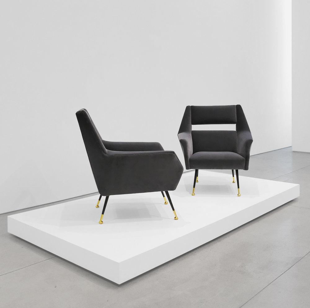Gigi Radice Velvet Chairs for Minotti, c. 1950 - 1959, Dedar Milano Velvet, Brass, 31 H x 28 W x 29 D inches_3.jpg