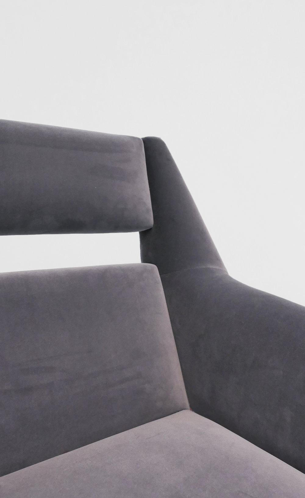 Gigi Radice Velvet Chairs for Minotti, c. 1950 - 1959, Dedar Milano Velvet, Brass, 31 H x 28 W x 29 D inches_4.jpg