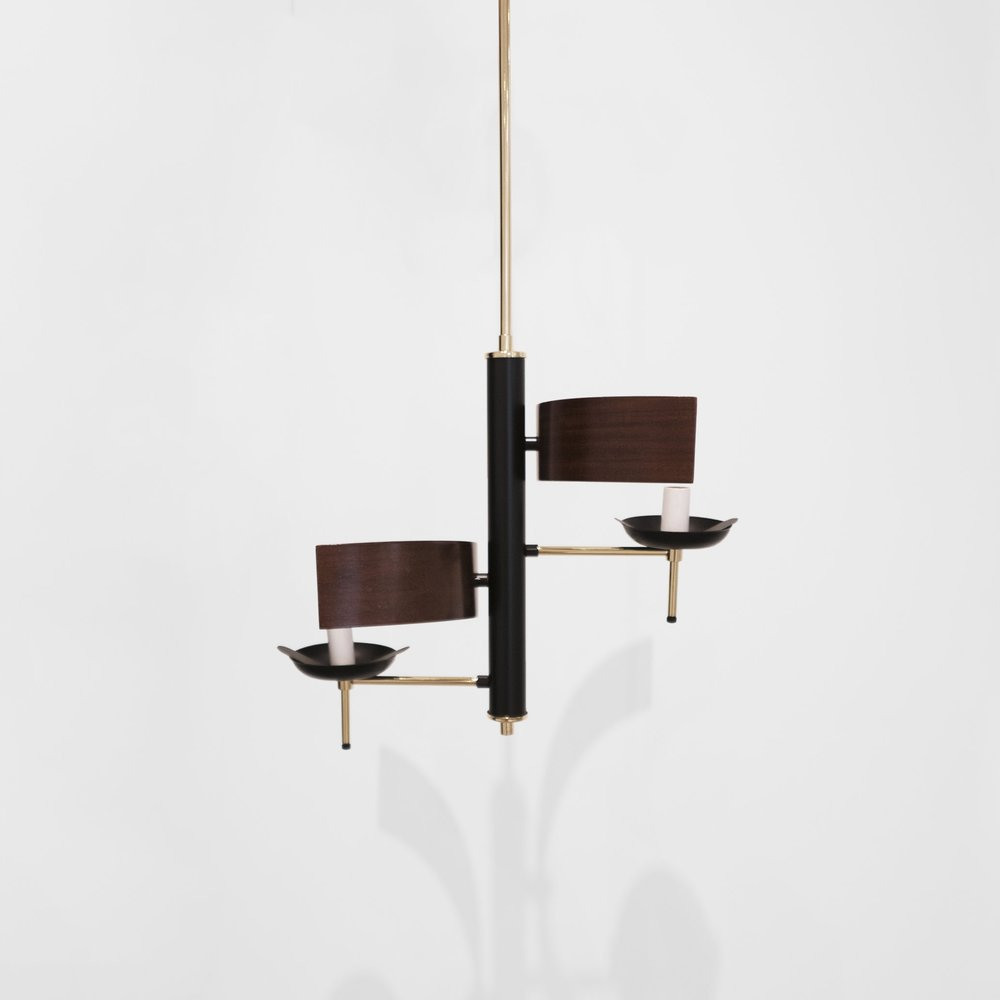stilnovo  two lights chandelier  c. 1960 ...