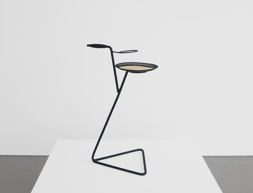 Mathieu Mategot, Flying Table with Glass Holder, 26.75 H x 15.75 W x 15.75 D inches_1.jpg