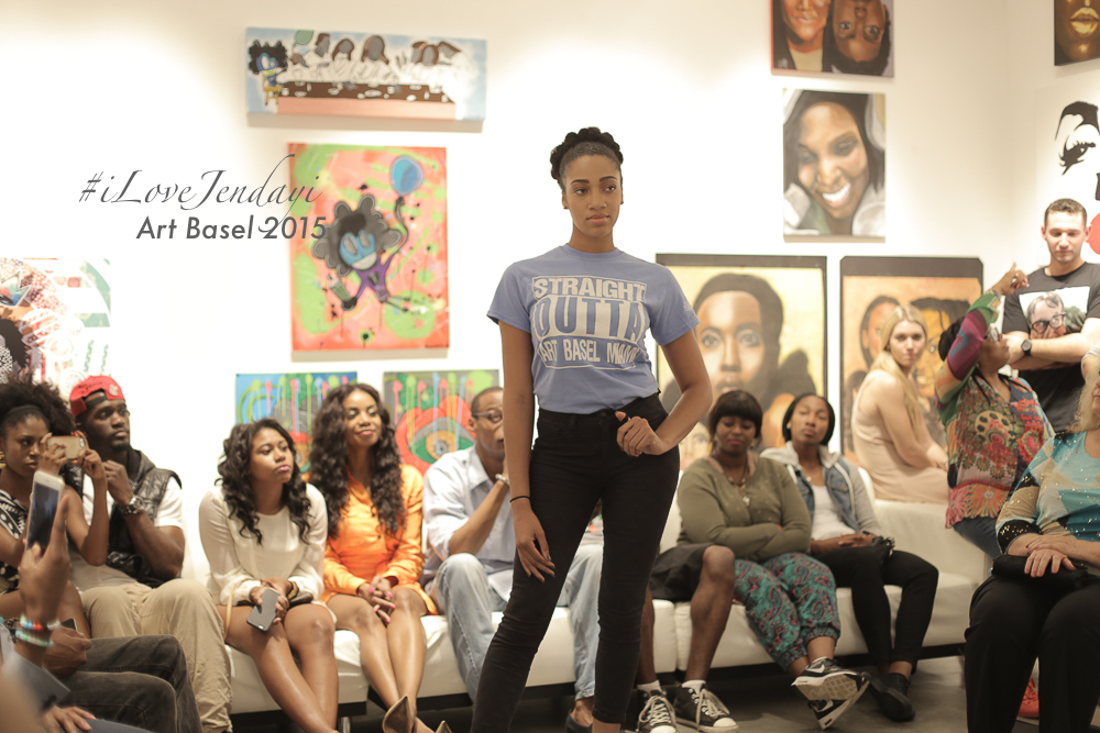 Supporting the Artist, Karl Coleman's apparel line. This was the introduction to the Jendayi Fashion Show.