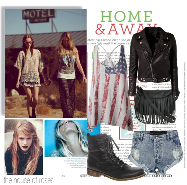But I'll Be There For You by the-house-of-roses featuring black ankle booties ❤ liked on Polyvore Free people tunic / Tommy Hilfiger american flag top, $29 / BLK DNM lined jacket, $1,120 / One teaspoon shorts, $110 / ASOS black ankle booties, $80 / Seychelles imitation purse