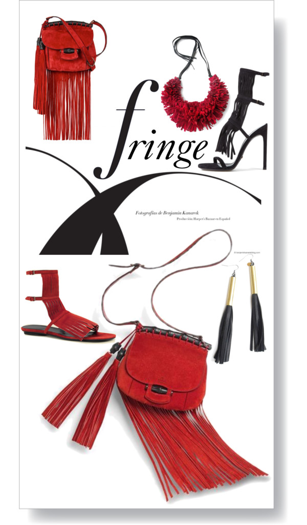 On the Fringe  by  betiboop8  featuring  nickel free earrings  ❤ liked on Polyvore        Gucci sandals  /  Gucci gladiator sandals  /  Gucci red purse , $2,280 /  Black leather necklace  /  Nickel free earrings