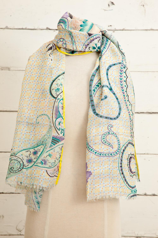 """Style No.: #8655  Color: Sandstorm Peach Multi  Quality: Modal Linen  Size: 30"""" x 72"""""""