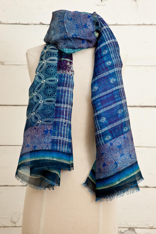 """Style No.: #8645  Color: Denim Blue  Quality: Modal Linen  Size: 30"""" x 72"""""""