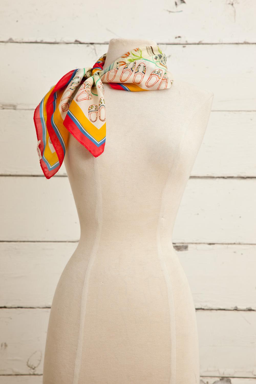 "Style No.: #8642  Color: Lemon Sherbet  Quality: Habutai Silk  Size: 26"" x 26"""