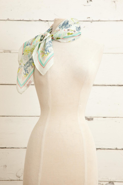 """Style No.: #8672  Color: Lavender Multi  Quality: Habutai Silk  Size: 26"""" x 26"""""""
