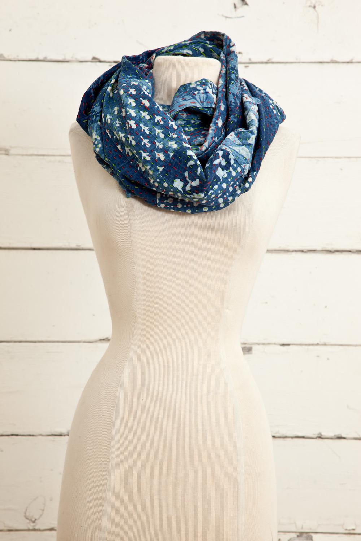 "Style No.: #8624  Color: Indigo Blue  Quality: 100% Cotton  Size: 19"" x 64"" (Infinity)"