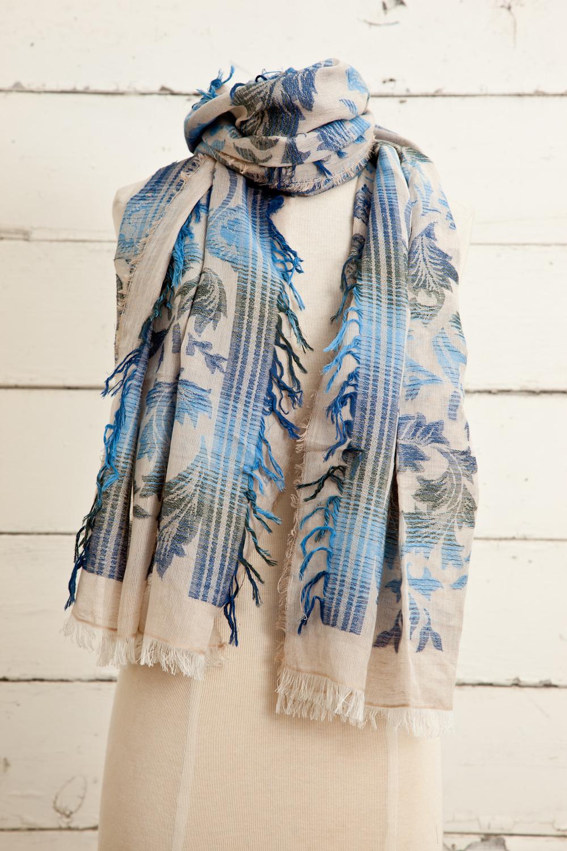 """Style No.: #8616  Color: Stonewash Blue  Quality: Cotton Modal Linen  Size: 28"""" x 72"""""""