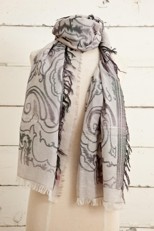 """Style No.: #8617  Color: Ash Grey  Quality: Cotton Modal Linen  Size: 28"""" x 72"""""""