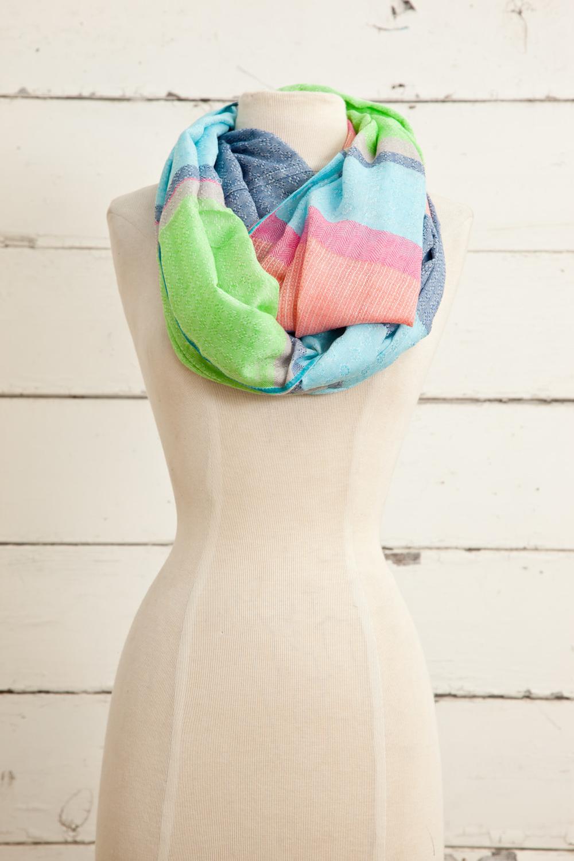 """Style No.: #8608  Color: Multi  Quality: Cotton Modal Linen  Size: 28"""" x 72"""""""