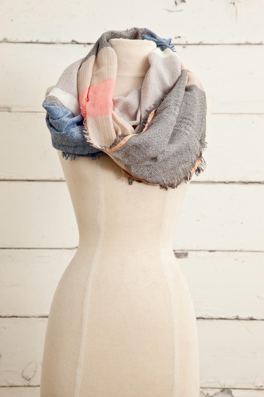 """Style No.: 8608  Color: Beige Multi  Quality: Cotton Modal Linen  Size: 28"""" x 72"""""""
