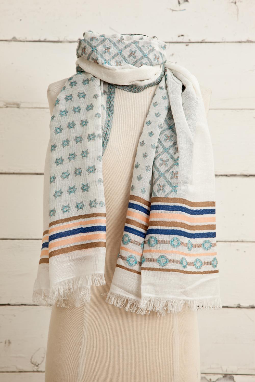 """Style No.: #8599  Color: Sunblush  Quality: Cotton Modal Linen  Size: 28"""" x 72"""""""