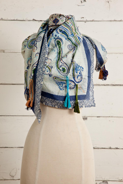 """Style No.: #8662  Color: Lavender Multi  Quality: Habutai Silk  Size: 41"""" x 41"""""""