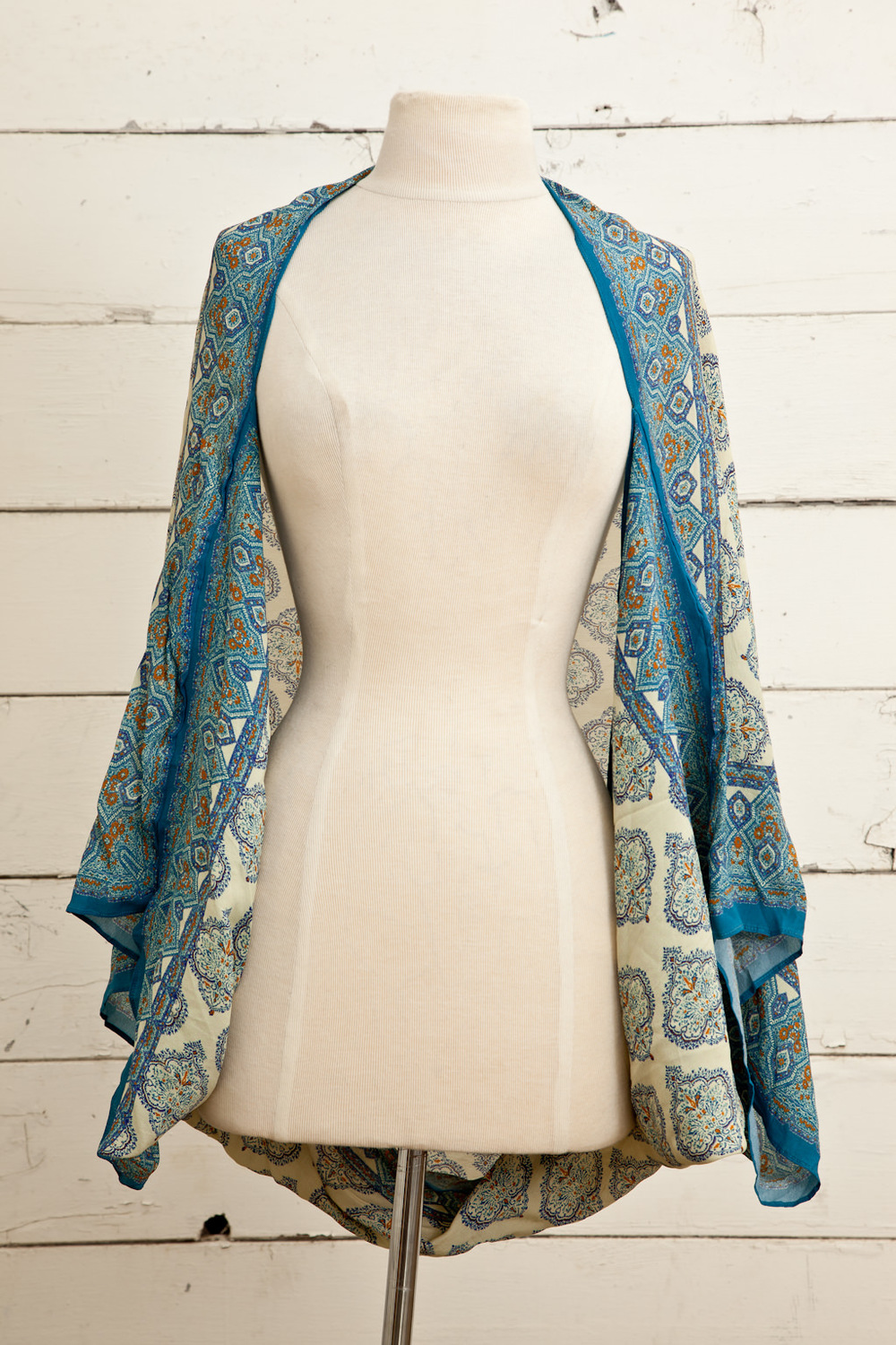 Style No.: #8632  Color: Matin Blue  Quality: Fancy Creape (Kimono)  Size: One Size