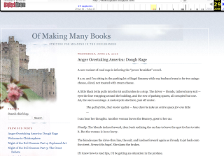 screenshot of Of Making Many Books from the Wayback Machine
