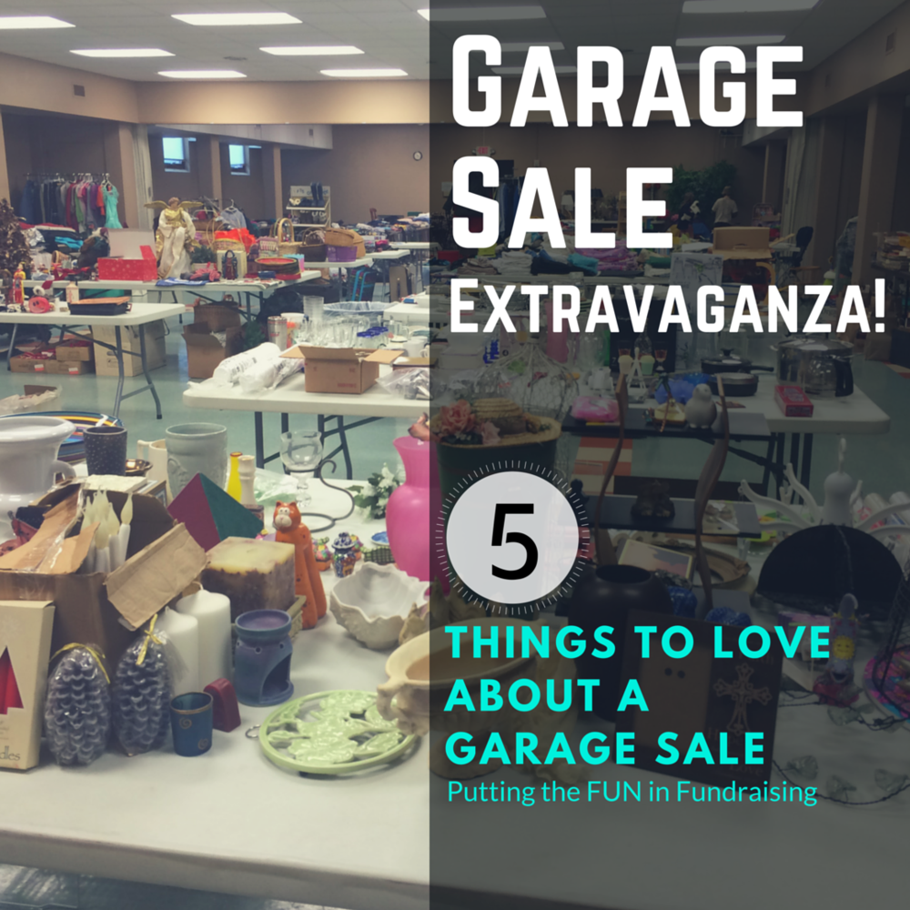 how to have a fundraising garage sale