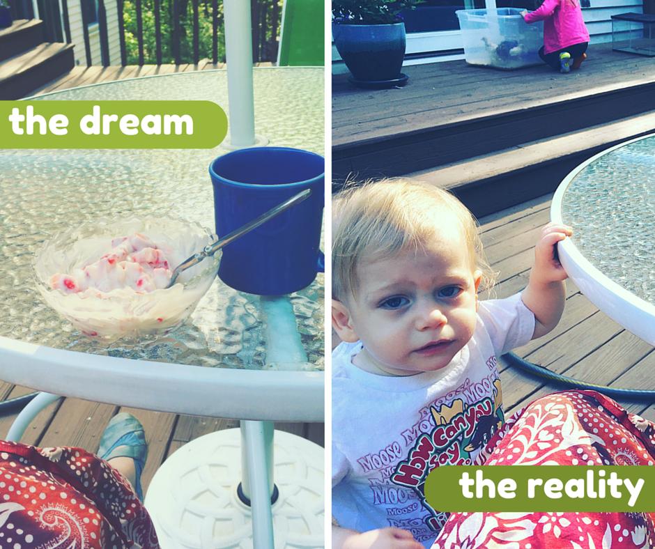 The dream vs reality of Motherhood